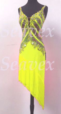 U4604 Fringing Ballroom women salsa rumba Latin chacha dance dress Custom made