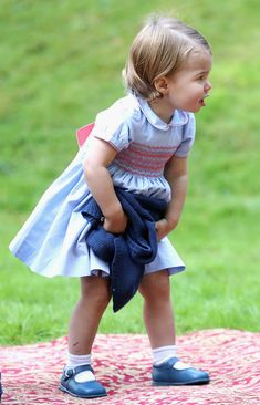 Princess Charlotte of Cambridge at a children's party for Military families during the Royal Tour of Canada on September 29, 2016 in Victoria, Canada. Prince William, Duke of Cambridge, Catherine, Duchess of Cambridge, Prince George and Princess Charlotte are visiting Canada as part of an eight day visit to the country taking in areas such as Bella Bella, Whitehorse and Kelowna