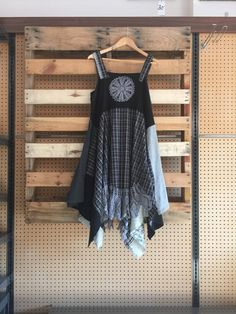 A personal favorite from my Etsy shop https://www.etsy.com/listing/551083511/upcycled-lagenlook-black-and-grey