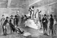 Slave auctions were held in the South and the North before the American Civil War. Slave families often were separated and sold to slaveholders in distant states.