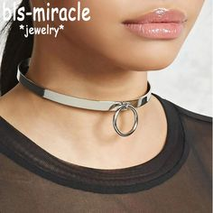 "ExtraShop - Buy ""Bls-miracle Street Beat Necklaces With Round Personality Punk Necklace Choker Femme Colares Statement Party Jewelry for only USD. Colar Fashion, Fashion Necklace, Fashion Jewelry, Arm Bracelets, Long Pendant Necklace, Necklace Types, Jewelry Party, Punk, Statement Necklaces"
