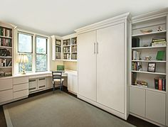 Check out http://manhattancabinetry.com! View images of some of the murphy beds from Manhattan Cabinetry. We offer an almost unlimited selection of materials and finishes.
