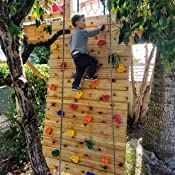 Outdoor or Indoor DIY 25 Rock Climbing Holds for Kids Little Ninja Climbing Holds Premium Installation Hardware Included Climbing Rocks for Rock Climbing Wall