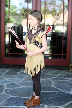 DIY Kids Sacagawea Costume - Native American — my.life.at.playtime.