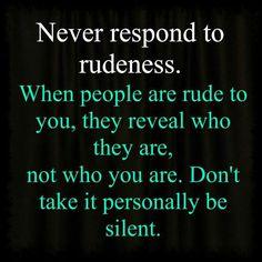 Rude people