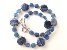 Blue Kyanite and Sodalite Gem necklace