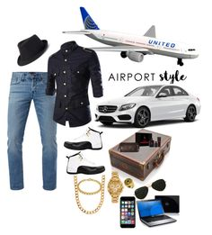 """AIRBORNE"" by ruffin777 ❤ liked on Polyvore featuring 3x1, Jordan Brand, Ralph Lauren, Tumi, Versace, Allurez, Bling Jewelry, Topman, Urban Pipeline and Off-White"