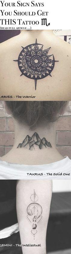 Tattoo Ideas for Women - Simple Small Sun Mandala Spine Tat Mountain Back of Neck Tatt Geometric Lightbulb Wrist Tattoo at MyBodiArt.com