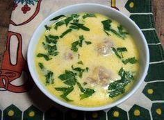 Zupa serowa z mięsem (pulpetami)