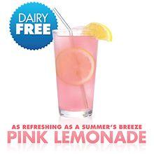 New Orange Leaf Frozen Yogurt flavor: Pink Lemonade Orange Leaf, Pink Lemonade, Frozen Yogurt, Hurricane Glass, Just Desserts, Dairy Free, News, Tableware, Dinnerware