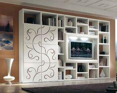 www.cordelsrl.com        #parete soggiorno con intarsi sulle ante