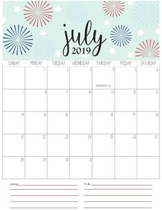 june monthly calendar 2019