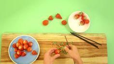 Aardbeien ontkronen