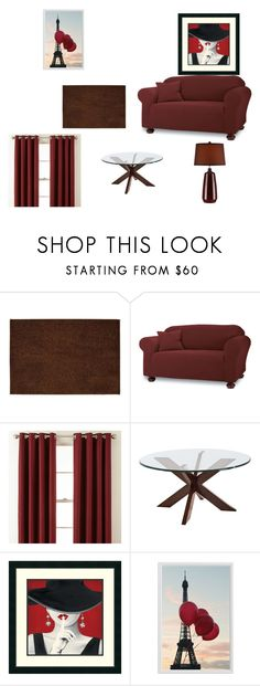 """living room"" by amcneil002 on Polyvore featuring interior, interiors, interior design, home, home decor, interior decorating, Garland Rug, Sure Fit, Royal Velvet and Pier 1 Imports"
