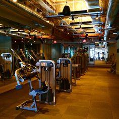 David Barton Gym LifeFitness circuit zone this morning