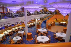 Sapphire Dining Room on the Carnival Breeze.