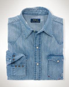Indigo Denim Western Shirt - Polo Ralph Lauren Standard-Fit - RalphLauren.com