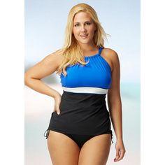 7dbdca0871 Beach House Plus Size Blair High Neck Tankini Black Best Swimsuits, Women  Swimsuits, Black