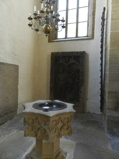 Baptismal font at the Augustinian Monastery in Erfurt, Germany, where Luther studied. Martin Luther, Fonts, Germany, Home Decor, Erfurt, Designer Fonts, Decoration Home, Room Decor, Types Of Font Styles