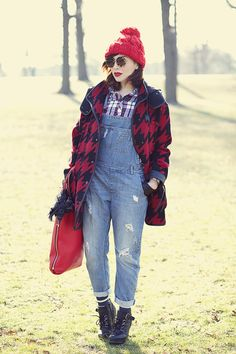 Winter Wear: Houndstooth Coat and Overalls - Keiko LynnKeiko Lynn