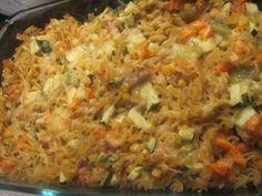 Quick and easy tuna pasta bake.