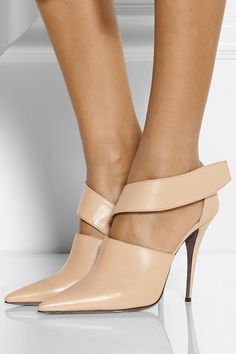 Narciso Rodriguez Camilla cutout leather ankle boots | NET-A-PORTER