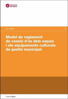 Model de reglament de cessió d'ús dels espais i els equipaments culturals de gestió municipal (IMPRESSIÓ A DEMANDA) El Model de reglament de cessió d'ús dels espais i els equipaments culturals de gestió municipal és una proposta elaborada pel programa d'assessorament cultural als municipis de l'Oficina d'Estudis i Recursos Culturals de la Diputació de Barcelona (CERC), per tal de ser una eina útil adreçada, especialment, als municipis petits i mitjans. Barcelona, Shopping, Barcelona Spain