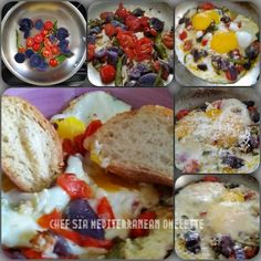 Chef Sia's Mediterranean Omelette Omelette, Mashed Potatoes, Healthy, Ethnic Recipes, Kitchen, Food, Kitchens, Whipped Potatoes, Omelet