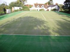 Clean and Rejuvenated Tennis Court