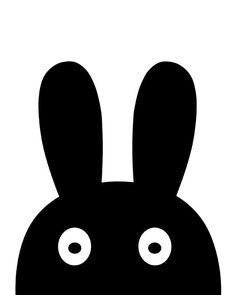 bunny bunny print bunny ears nursery decor nursery por GorgeousGD