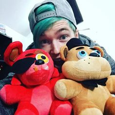 The Diamond Minecart and his FNAF plushes
