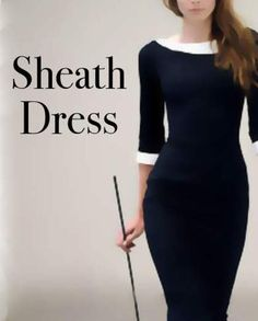 What is a Sheath dress? This dress is a structured dress the follows the contours of the body. Of all the casual dresses, these are the most chic.