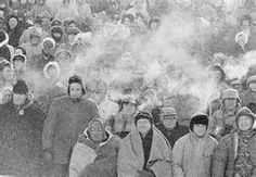 The Lambeau Field crowd at the Ice Bowl