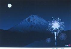 RELAX画「富士と花火」[柳田英夢] | ART-Meter