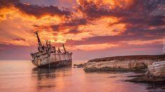 Statek Edro III, Wrak, Morze, Zachód słońca