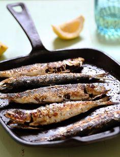 sardines on salt