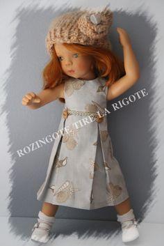 Poupées minouche habillées Rozingote tire la Rigote