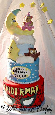 """ICING SMILES Cake for Dylan (4"""", 6"""" & 8"""") by well kiss my frosting, via Flickr"""