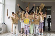 Cardboard knights