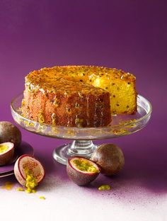 Brazilian passionfruit cake (bolo de maracujá) I think I'll put some chantilly on top or inside. Why not a bundt cake? Food Cakes, Cupcake Cakes, Fruit Cakes, Passion Fruit Cake, Fruit Pie, Passionfruit Recipes, Cake Recipes, Dessert Recipes, Sbs Food