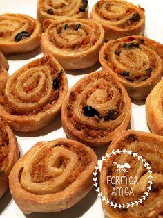 Formiga Amiga: Caracóis de massa folhada com alheira vegetariana