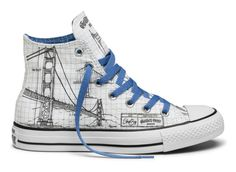Shoe Biz x Converse Chuck Taylor All Star San Francisco Moments Collection - Freshness Mag Converse Chucks, Converse Style, Converse Chuck Taylor All Star, Converse All Star, Adidas, Painted Sneakers, Painted Shoes, Everyday Shoes, Only Shoes