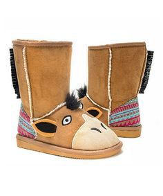 Another great find on #zulily! Brown Scout Horse Boot - Kids #zulilyfinds