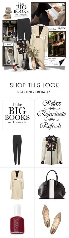 """""""Between the Pages of a Book is a Lovely Place to Be"""" by thewondersoffashion ❤ liked on Polyvore featuring WALL, Coffee Shop, H&M, Alexander Wang, Givenchy, Victoria Beckham, DESA 1972, Essie, Lucy Choi London and Effy Jewelry"""