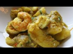 How to cook curry potato with shrimp, using a classic Caribbean curry technique…