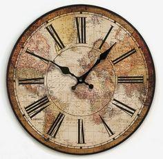 022706 reloj de pared de decoración del hogar mudo del cuarzo mapa del mundo relojes de madera única seguridad nuevo 2014(China (Mainland))