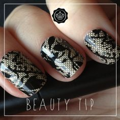 """Have you tried nail appliques? Make sure to use nail polish remover on your nails before you apply them! We think these lace ones are a great compliment to our November """"Holiday Romance"""" theme! Get your November box today: http://www.glossybox.com/subscribe"""