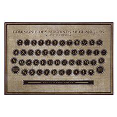 Uttermost Antique Keyboard Vintage Art 31600