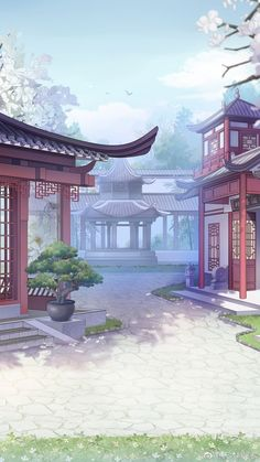 Fantasy Art Landscapes, Fantasy Landscape, Landscape Art, Beautiful Landscapes, Episode Backgrounds, Anime Backgrounds Wallpapers, Anime Scenery Wallpaper, Aesthetic Backgrounds, Aesthetic Wallpapers