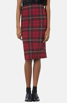 Topshop Plaid Tube Skirt available at #Nordstrom | available, affordable, and adorable.